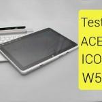 Test et caractéristiques de la tablette Acer Iconica W510 sous Windows 8