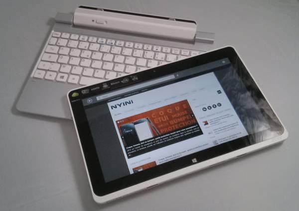L'Acer Iconica W510 et con clavier