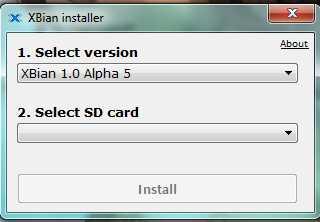 Interface installeur XBian