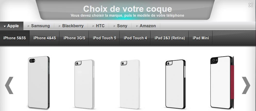Choix coque smartphone