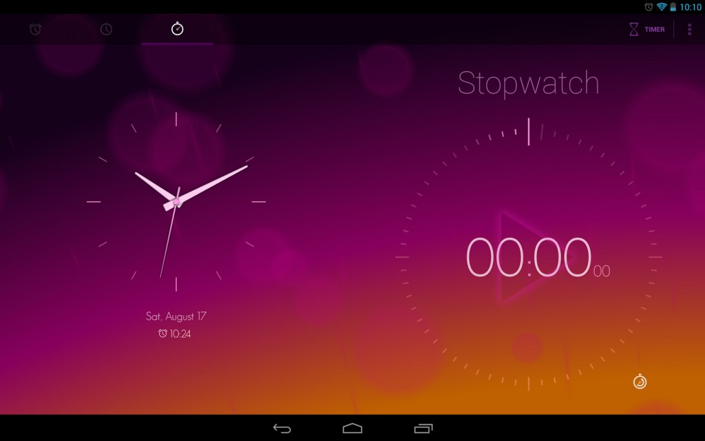 Interface Tablette de l'application mobile Timely